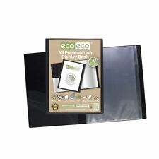 eco-eco A3 50% Recycled 10 Pocket Black Folder Presentation Display Book