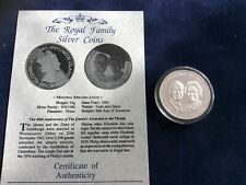 More details for turks and caicos 20 crowns silver coin. 1992. 40th anniversary with coa/capsule