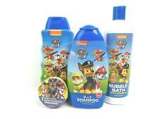 Paw Patrol Kids Bath Set - Bubble Bath, Body Wash, Shampoo + Conditioner, Towel