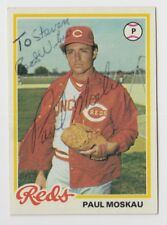1978 TOPPS PAUL MOSKAU AUTOGRAPH INSCRIBED SIGNED ROOKIE RC CARD #126 JSA