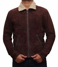 Waist Length Suede Other Men's Jackets