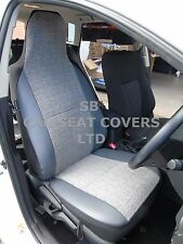 i - TO FIT A TOYOTA STARLET, CAR SEAT COVERS, MARBLE GREY / PVC TRIM, 2 FRONTS