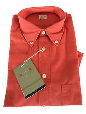 FLY 3 Camisa en hue unido rojo MADE in ITALY 100 % algodón
