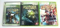 BioShock Lot of 3 Xbox 360 Video Games BioShock 1 2 & Infinite w/ Manuals TESTED
