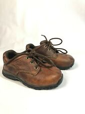 Timberland Brown Leather boy's shoes w laces toddler Size 8.5 Brand New