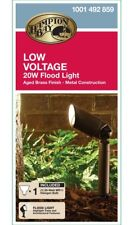 Hampton Bay Low Voltage 20W Flood Light - Aged Brass Finish - Model 1001 492 859