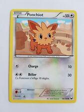 Carte Pokémon PONCHIOT PV 50 86/108 Noir & Blanc Explorateurs Obscurs VF