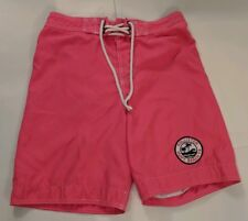Hollister Mens Boardshorts Neon Pink Size Small Swim Trunks