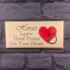 CAVALLI lasciare zoccolo impronte del tuo cuore-La Placca/Firmare/Regalo-stabile Pony 504