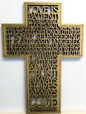 Love Is Corinthians 13:4-8 Laser Engraved Wooden Cross