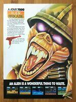 Alien Brigade Atari 7800 1990 Vintage Video Game Print Ad/Poster Official Rare