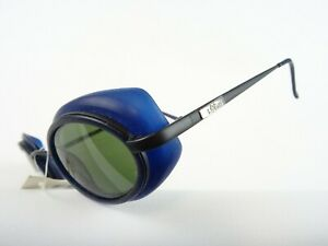 S.Oliver Sunglasses With Side Protector New Unisex Black Blue Steampunk Size M