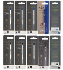 Parker Pen Refills for BALLPOINT, GEL & FOUNTAIN PEN-ALL COLOURS & SIZES GENUINE