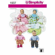 "Simplicity Sewing Pattern 1937 Dolls Clothes Layette  to fit approx 15"" 38cm"