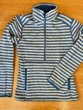 Patagonia Xs Better Sweater Fleece Half Zip Marsupial Pocket, Blue Striped