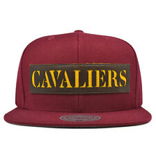 Cleveland Cavaliers LASER CUT LEATHER Snapback Mitchell & Ness NBA Hat