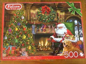 Santa by the Christmas Tree - Jumbo 500 piece puzzle