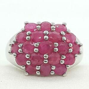 World Class 4.80ctw Mozambique Ruby 925 Sterling Silver Ring Size 9 5.6g