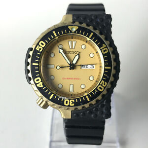 SEIKO PROSPEX GIUGIARO Watch Black Gold Diver