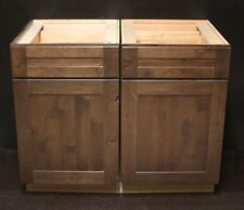"Set Of 2 - Kraftmaid 2x21""=42"" Hazel Suede Alder Kitchen Base Cabinets"