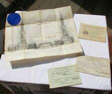 LOT Vintage Masonic Free Mason ID Member Card Grand Lodge Award Certificate NR