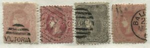 Victoria QV 1860 4d to 6d values used