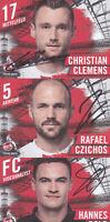 1.FC Köln - Saison 2020/21, 19 Autogrammkarten mit Originalunterschrift!