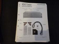Original Service Manual Kennwood   KDC-C603