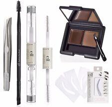 ELF Total Brow Set Eyebrow Kit Clear Gel Mascara Stencils Brush Spoolie Tweezers