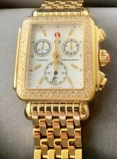 and Diamond Watch Mw06A01B0025 Michele Deco Collection 18k Gold