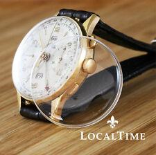 NUOVO 36mm a cupola plexi vetro per ANGELUS CHRONODATO Triplo Data Orologio Cronografo