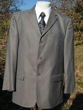 PERRY ELLIS WOOL SMALL WINDOWPANE/CHECKS BLUE/GRAY Sport Coat Blazer SZ 42