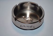 Vintage CAMEL Cigarettes Promotional Portable Chrome Plated Round Ashtray Candy