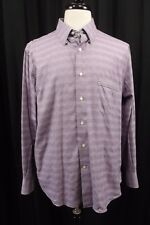 Tommy Bahama Mens Button Down Shirt Sz 16 1/2 34 - 35 Long Sleeves Purple Dress