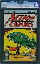 Action Comics 1 CGC 9.0 - White Pages - 1988 Reprint