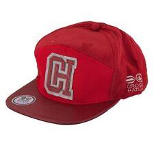 Hommes Crosshatch Réglable Retro Casquette Baseball - Chadden Red
