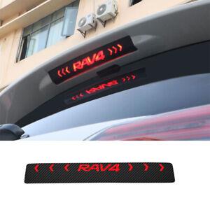 For Toyota RAV4 XA50 2019-2021 Carbon Fiber Color Rear Brake Lamp Stciker Trim