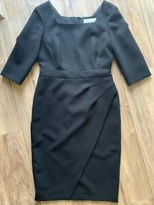 lk bennett black dress 12 Party Ocassion Short Sleeve Knee Length Body Con