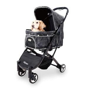 IBIYAYA Compact Dog Strollers with One-Hand Folding Design for Trip