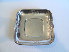 "Vintage Wallace Sterling Silver 6"" Square Bowl / Dish, #4218-9"