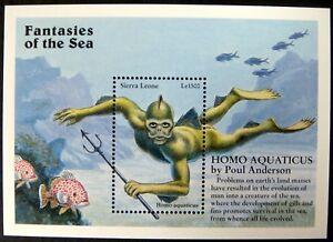 SIERRA LEONE FANTASIES OF THE SEA STAMPS 1996 MNH HOMO AQUATICUS WATER MAN
