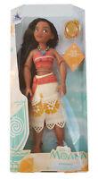 Disney Store Moana Princess Classic Doll Poseable Toy Figure Clip On Pendant NEW