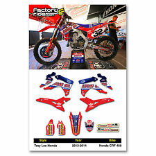 2013 - 2016  HONDA CRF 450 TLD Dirt Bike Graphics kit Motocross Graphics Decal