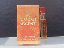 Gucci Accenti Women Perfume Lot of 3 Sample Vials 0.04 oz Eau de Toilette Splash