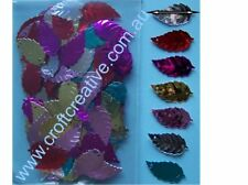 SEQUIN LEAVES - COSTUME EMBELLISHMENT, JEWELLERY, CRAFT