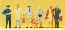 H0 Preiser 14029 à la Poste de contrôle quai gare figurines. EMBALLAGE D'ORIGINE