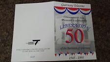 Phonecard Guersey telecom Liberation commerative card in folder - Rare