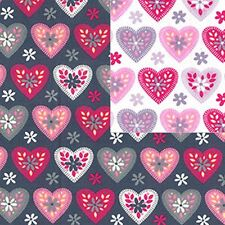 Cotton Poplin Heart Fabric Material - Hearts - 474