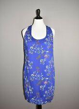 OLD NAVY NEW $30 Blue Floral Sleeveless Racerback Shift Dress Large