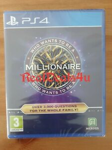 PS4 WHO WANTS TO BE A MILLIONAIRE (Sony Playstation 4, 2020) - NEW - FREE Pp